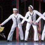 "From left: Erica Cornejo, Isaac Akiba, Paul Craig, and James Whiteside in Boston Ballet's production of ""Fancy Free."""