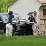 Law enforcement agents searched the home of alleged Connecticut mobster Robert Gentile in Manchester, Conn.