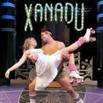 "McCaela Donovan and Ryan Overberg in the SpeakEasy Stage Company's ""Xanadu."""