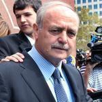 Former House speaker Salvatore F. DiMasi left a courthouse after his sentencing last year.