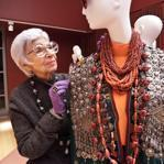 Iris Apfel worked on her exhibition at the Peabody Essex Museum in 2009.
