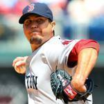Josh Beckett evened his record at 4-4 by carrying a shutout into the eighth inning.