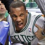 Celtics guard Avery Bradley has been battling a left shoulder injury; he didn't suit up for Game 5 Monday night at TD Garden.