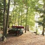 Camping at Pawtuckaway Lake, in south-central New Hampshire, offers hiking trails, mountains, a family beach, and islands in the lake.