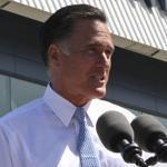 Republican presidential candidate, former Massachusetts Gov. Mitt Romney holds a news conference outside the Solyndra manufacturing facility, Thursday, May 31, 2012, in Fremont, Calif. (AP Photo/Mary Altaffer)