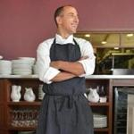 Chef and restaurateur Michael Leviton of Lumiere and Area Four in his Newton restaurant.