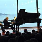 Pianist Leon Fleisher performed at the Shalin Liu Performance Center in the opening concert of the Rockport Music Festival's 31st season.