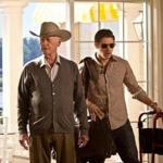 Larry Hagman as patriarch J.R. Ewing and Josh Henderson as his son John Ross.