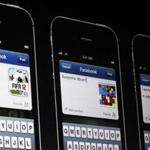 Facebook apps on iPhones were pictured during the Apple Worldwide Developers Conference  in San Francisco.