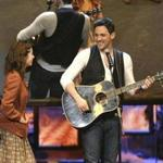"Cristin Milioti (left) and Steve Kazee performed in a scene from ""Once"" at the Tony Awards."