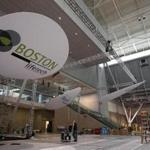 Preparations for next week's Bio International Convention at the Boston Convention and Exhibition Center.