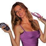 Model Gisele Bundchen attends a photocall to present the new