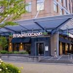 At Rosa Mexicano on Seaport Boulevard, vegetable tacos and a variety of margaritas including its signature frozen pomengranate.
