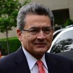 Former Goldman Sachs and Procter & Gamble board member Rajat Gupta arrived at a Manhattan courthouse for the closing arguments of his trial on Wednesday.