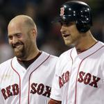 Kevin Youkilis, left, and Will Middlebrooks smiled after Middlebrooks' two-run homer on May 30.
