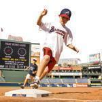 After some games at Turner Field in Atlanta, kids get to run the bases.