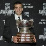 Boston Bruins' Patrice Bergeron won the Selke Trophy for best defensive forward during the 2012 NHL Awards show at the Wynn Las Vegas Resort in Las Vegas.