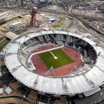 London's new Olympic Stadium (foreground) came with a price tag of $764 million. The Aquatics Center (background) cost $423 million.