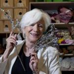 "Olympia Dukakis posed with some props used in the Shakespeare and Company production of ""The Tempest.''"