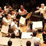 Gunther Schuller leading the Tanglewood Music Center Orchestra on Sunday night in Lenox.