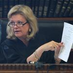 Judge Christine McEvoy spoke to jurors in the Mattapan case.