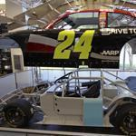 At the Hendrick Motorsports team museum, visitors can get a look under the skin of four-time champion Jeff Gordon's Sprint Cup car.