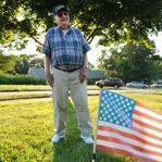Veteran Tony Rukus says he will fight to maintain the right to display his flag outside his Wrentham home.