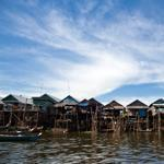 Houses in Kampong Phluk, Cambodia, are built on stilts to withstand the ebb and flow of the monsoon seasons.