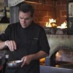 Chef Todd English prepared food at Olives in Charlestown.