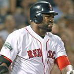 David Ortiz was hurt on this home run by Adrian Gonzalez on Monday.
