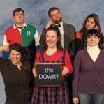 Members of the sketch-comedy team the Dowry are (bottom row, from left) Natalie Baseman, Laura Clark, and Jackie Arko and (top row, from left) Paul Barner, Brian Goddard, and Hannah Foell.