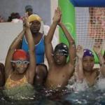 Children ages 10 to 12 participated in a mandatory swimming lesson at the Boys & Girls Club in Roxbury.