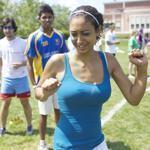 Anaële Abescat participated in the Peace Games, an activity offered by Project Common Bond.
