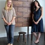 Laura Watson (left) and Brooke Richard with their first piece, a highboy with a stool.
