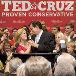 Senate candidate Ted Cruz, a Tea Party star, and his wife, Heidi, after he defeated Texas lieutenant governor David Dewhurst in a runoff for the GOP nomination on Tuesday.