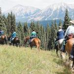 The author's group heads home through the West Elk Wilderness in Gunnison National Forest.
