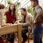 "From left: CJ Adams, Jennifer Garner, Lin-Manuel Miranda, and Joel Edgerton in ""The Odd Life of Timothy Green."""
