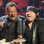 Bruce Springsteen (left) and his multitalented right-hand man, Steven Van Zandt, performing recently in New York.