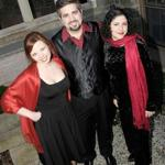 As El Fuego, Teri Kowiak (left), Dan Meyers, and Salomé Sandoval perform 16th- and 17th-century music from Spain and the New World.