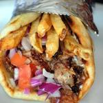 The Feisty Greek gyro includes crisp french fries.