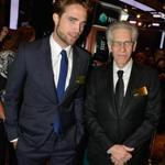 Robert Pattinson (left) and David Cronenberg in New York.