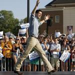 Paul Ryan campaigned in Ohio on Wednesday, including a stop at Miami University in Oxford, his alma mater.