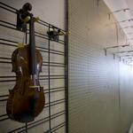 A lone violin hung on the wall of the Haverhill Music Centre that will close at the end of the month after nearly 60 years. In its heyday, hundreds of instruments adorned the walls.