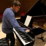 Paavali Jumppanen played the first piece on the new Steinway at the Gardner Museum.
