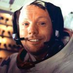 Neil Armstrong was all smiles after spending more than two hours on the moon's surface in 1969.