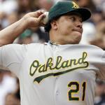 Bartolo Colon had a decent season in 2011 with the Yankees and had been the anchor of Oakland's staff this season, going  3-1 with a 1.88 ERA in August.