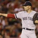 Alfredo Aceves took the loss in the Red Sox' defeat in Anaheim on Tuesday.