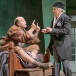"Michael Pemberton (left) and Michael Samuel Kaplan in Kevin Rice's ""Oblomov"" at Wellfleet Harbor Actors Theater."