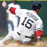 Boston's Dustin Pedroia stole second base in the sixth inning in Seattle Monday.