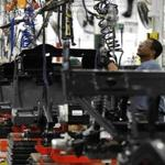 Leadership in innovation has kept the United States in the top 10 for competitiveness, a study says, but political issues interfere. Above, a golf cart assembly line in Georgia.